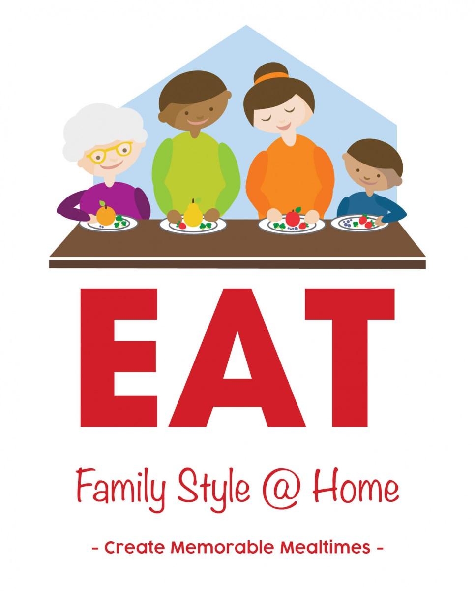 EAT Family Style @ Home, create memorable mealtimes logo