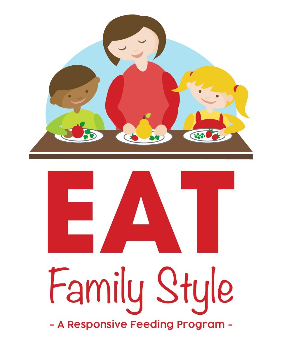 EAT Family Style @ Home, A responsive feeding program logo