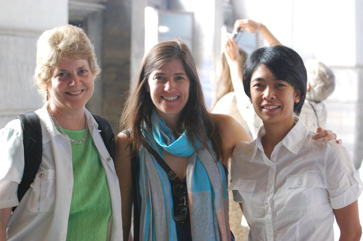 Carolyn Pope Edwards, Jill Brown and Maria Rosario de Guzman.