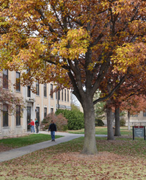 Ruth Leverton Hall in Fall