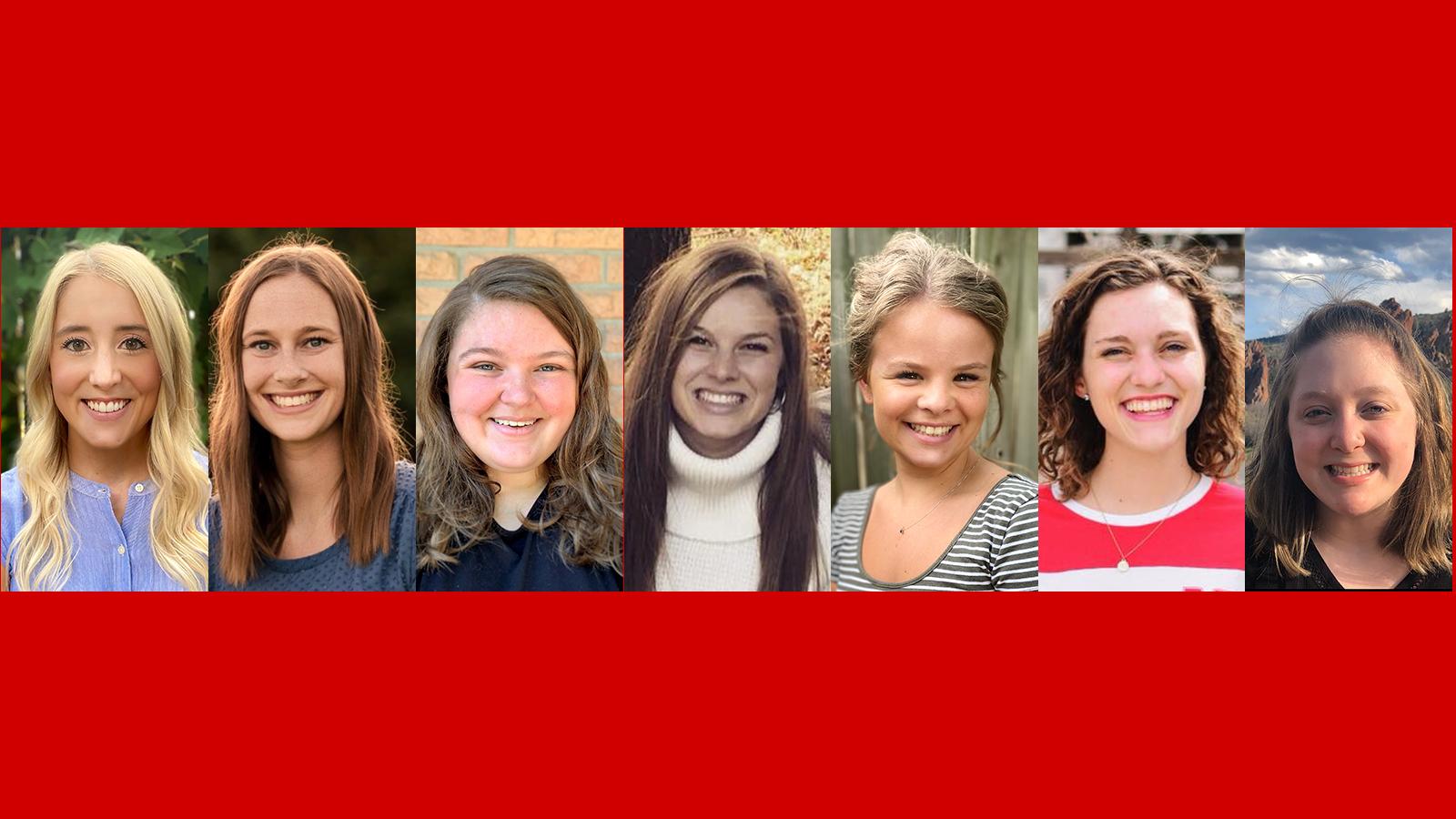 Alyssa Cook, Laura Munk, Anna Plettner-Nelson, Annie Prins, Erin Reynolds, Anna Sunderland, Kelly Woodworth