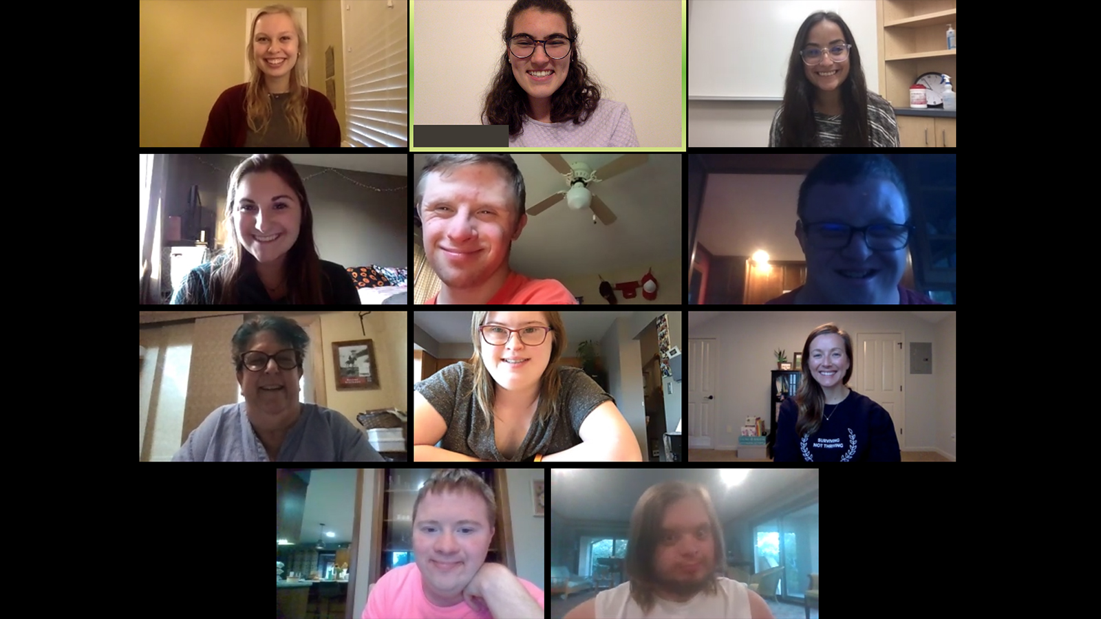 Participants in the DSAF Book Club meet via Zoom in early October.