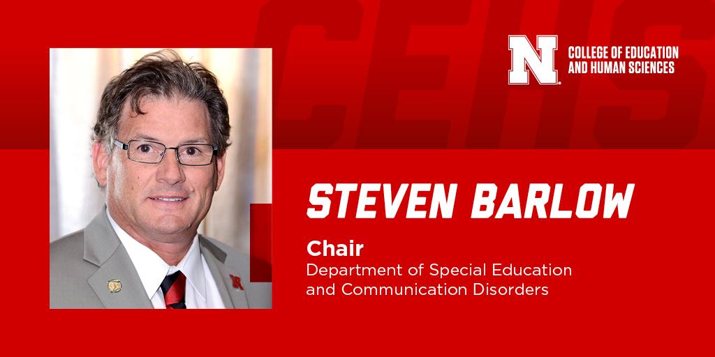 Steven Barlow department chair graphic