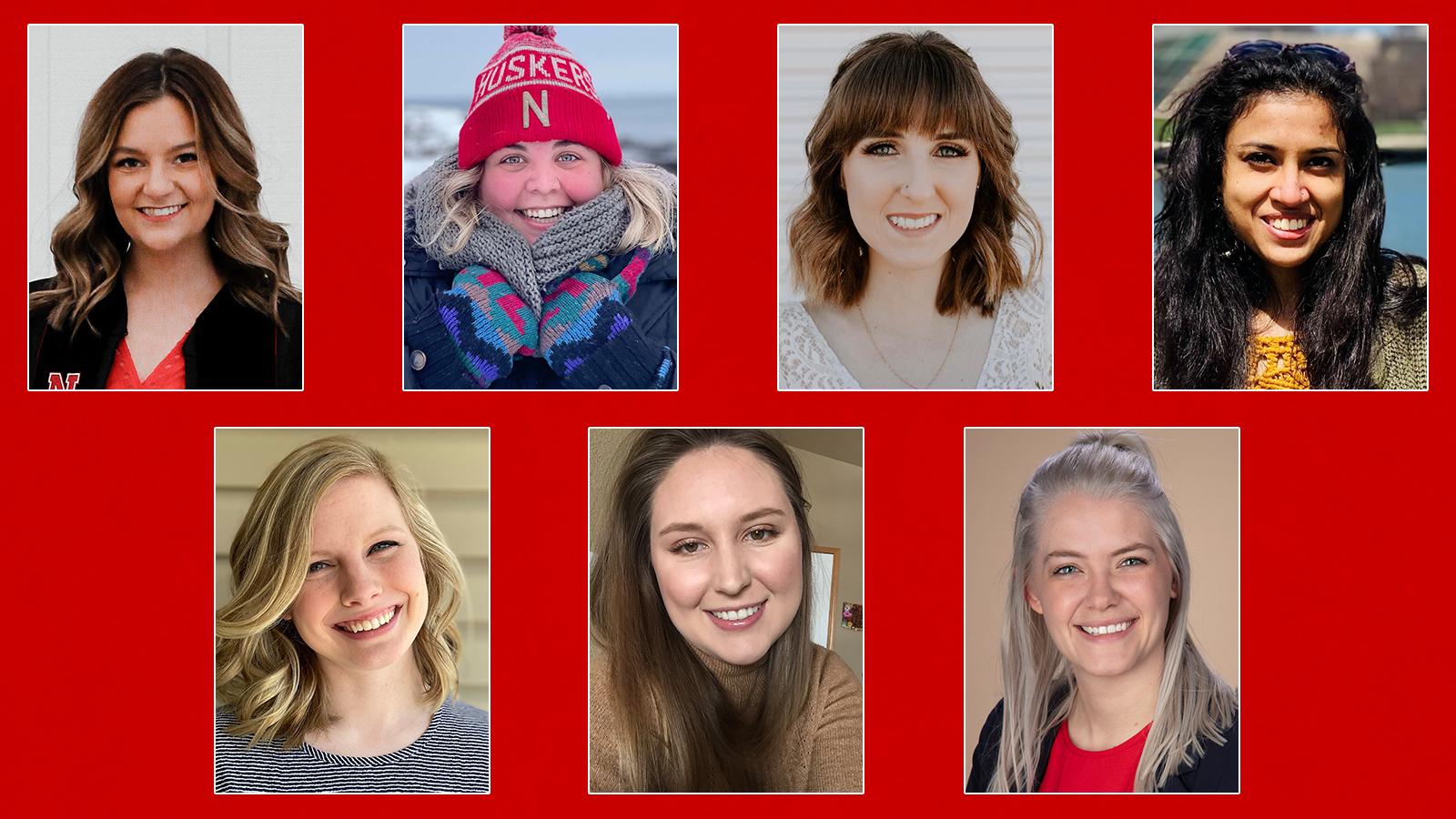 Cassidy Becklun, Mackenzie MacDonald, McKenzie Rosdail Kaus, Manami Shah, Kate Sindt, Kim Vaske-Huff, Emma Wilken