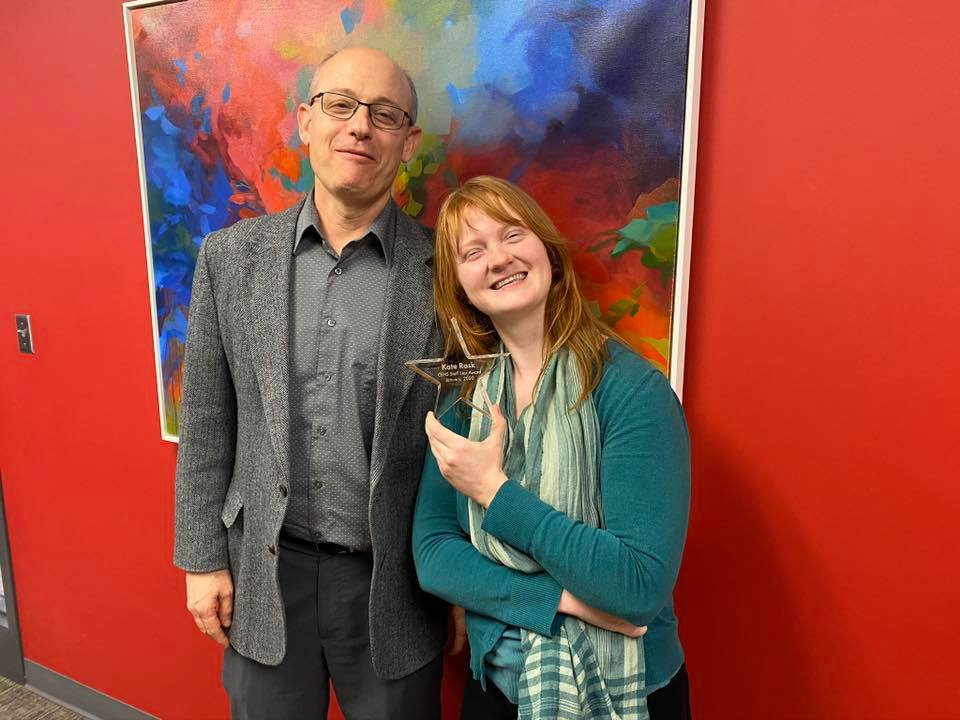 Kate Rask and Guy Trainin