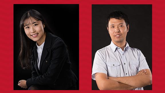 Wei Li (l) and Bingnan Mu (r)