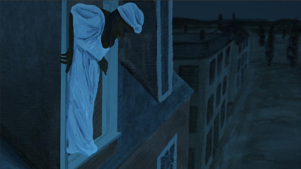 "Still image from the film ""Anna."""
