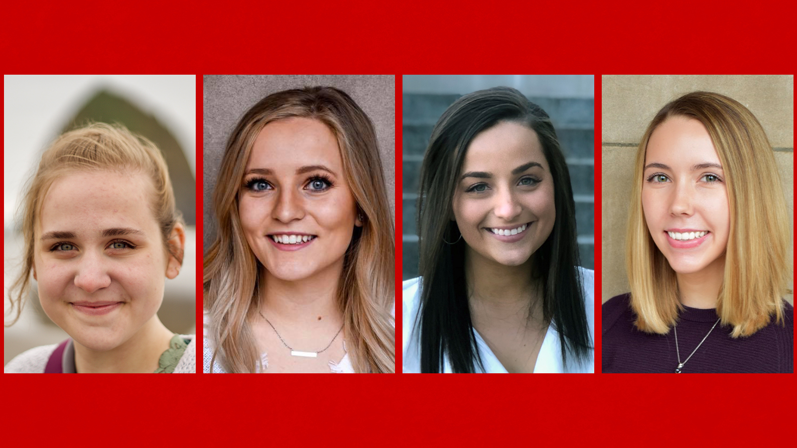 Emily Grybas, Macey Mathis, Madi Thielen and Jenna Van Bosch are among the students graduating with bachelor's degrees in communication sciences and disorders from the University of Nebraska-Lincoln during the commencement ceremony Dec. 21, 2019.