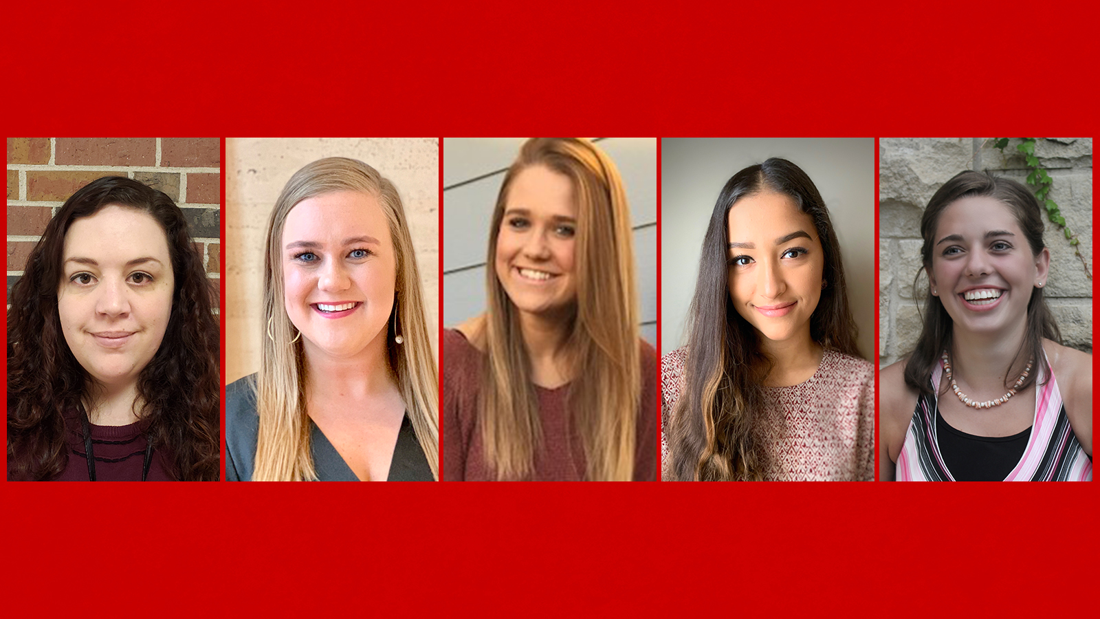 Ann Hilton, Anna Hershberger, Morgan Hilker, Ely Naveja and Alaina Rast are among the students graduating with degrees in special education Dec. 20-21 from the University of Nebraska-Lincoln.