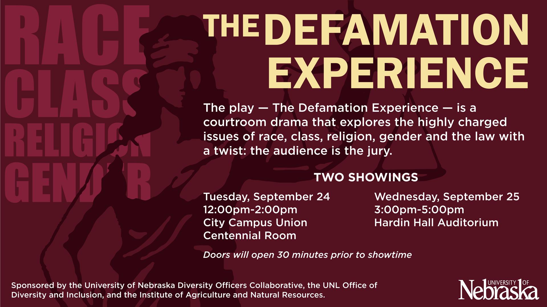 Defamation Experience Digital Signage