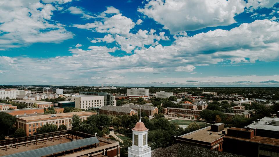 Campus drone image