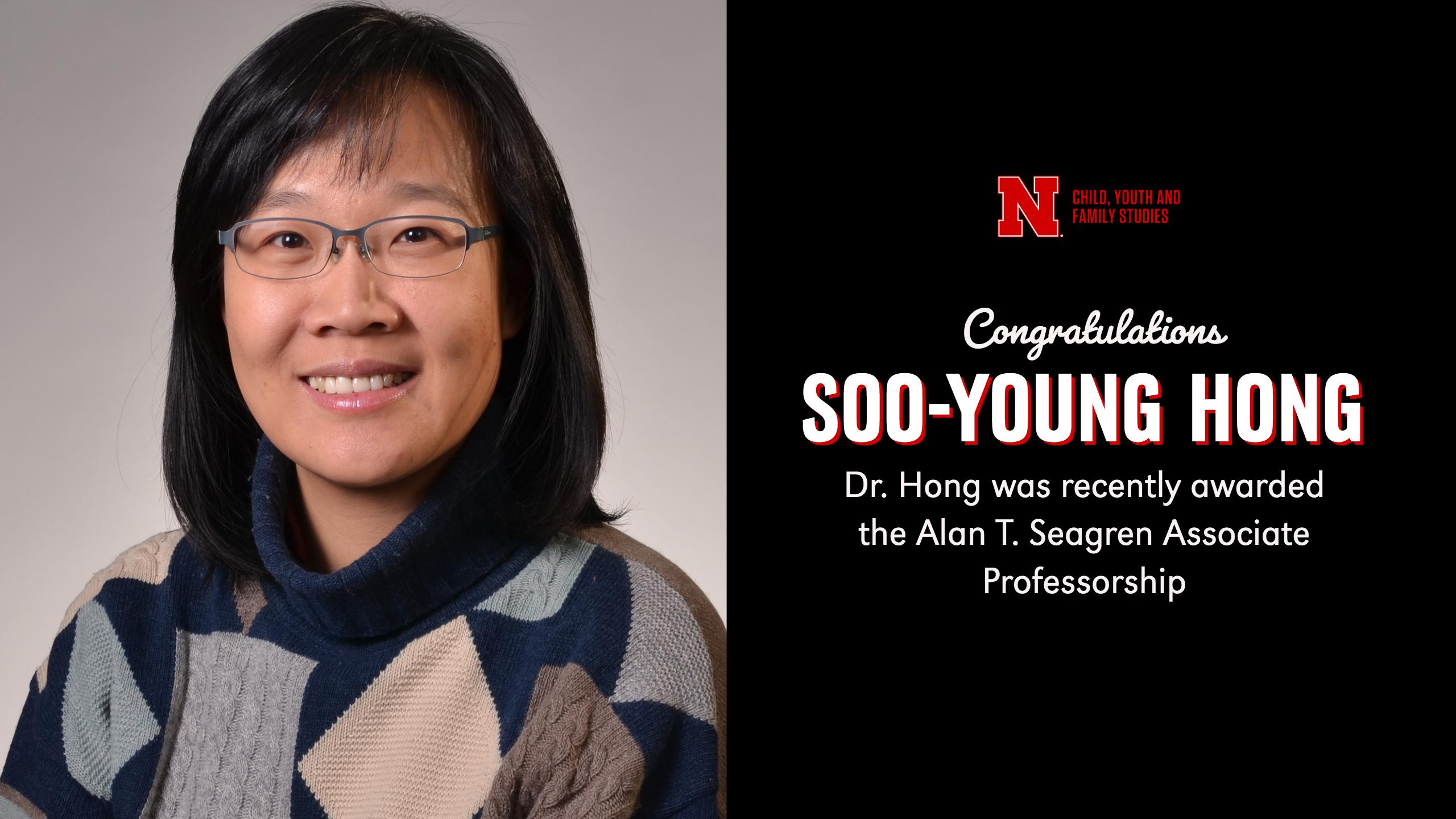 Soo-Young Hong awarded Alan T. Seagren Associate Professorship at University of Nebraska