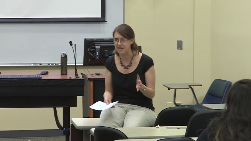 Assistant Professor Beth Niehaus talks about presenting and publishing at the 2014 Sybouts seminar