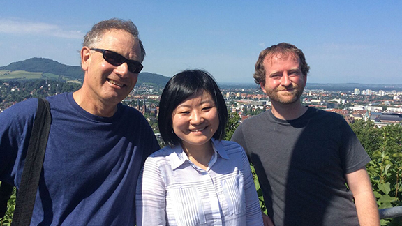 Professor Ken Kiewra and doctoral students Linlin Luo and Abe Flanigan