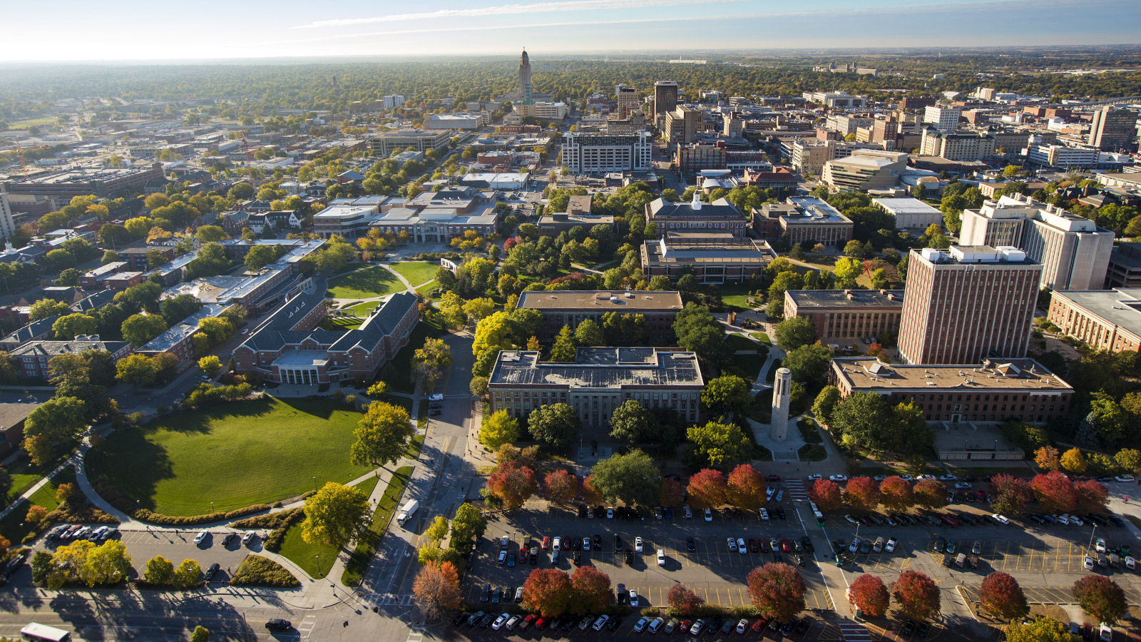 UNL Campus and the city of Lincoln
