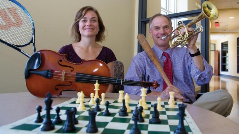 Ken Kiera and student Amanda Witte