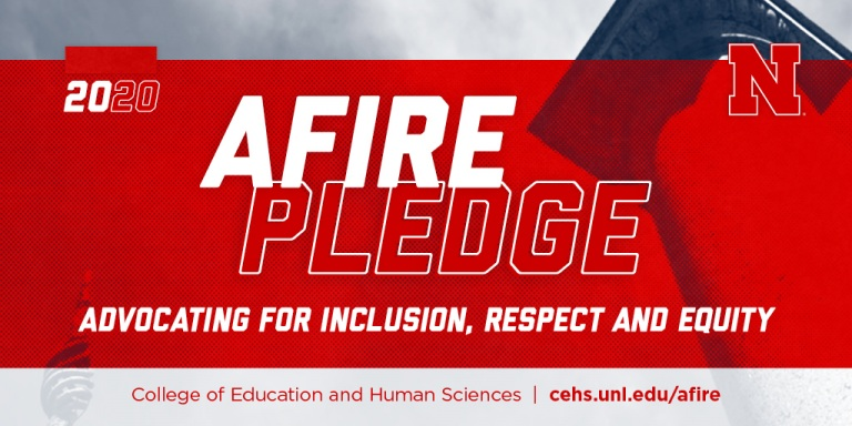 AFIRE Pledge graphic - Advocating for Inclusion, Respect and Equity