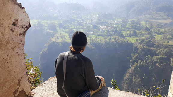 """CYAF student Joseph Byrd takes time to reflect on his experience in India. """"It is important to live, learn, and move ahead; living in the past is a fruitless journey. I wait with bated breath to experience what happens next."""""""