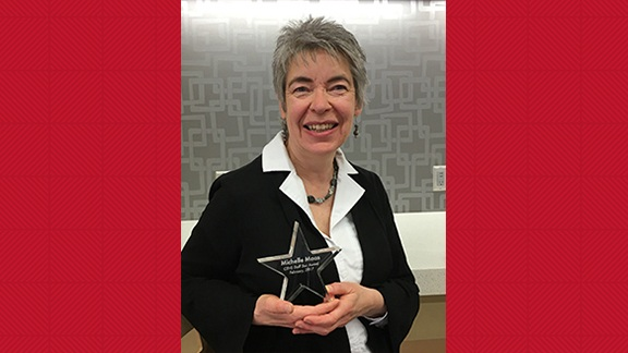 Michelle Maas, CEHS Staff Star Award recipient.