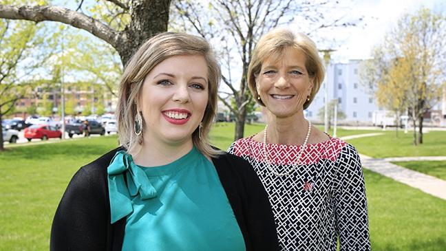 Amanda Moen and Sue Sheridan